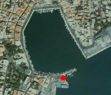 Port of Mytilene - We are here